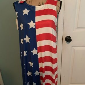American Flag Dress Size Large